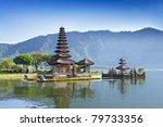 ulun danu temple beratan lake...   Shutterstock . vector #79733356