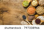 composition of dry legumes of... | Shutterstock . vector #797338966