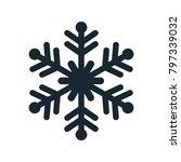 snowflake icon  vector simple... | Shutterstock .eps vector #797339032
