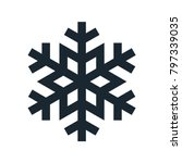 snowflake icon  vector simple... | Shutterstock .eps vector #797339035