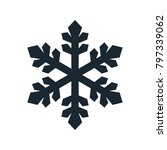 snowflake icon  vector simple... | Shutterstock .eps vector #797339062
