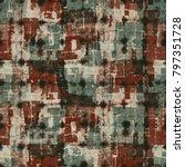 abstract grunge block textured... | Shutterstock . vector #797351728