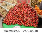 strawberry in the iranian market | Shutterstock . vector #797352058
