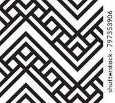 black and white geometric... | Shutterstock .eps vector #797353906