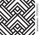 black and white geometric... | Shutterstock .eps vector #797353912