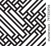 black and white geometric... | Shutterstock .eps vector #797353936
