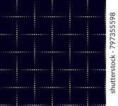 lattice work pattern. stylized... | Shutterstock .eps vector #797355598