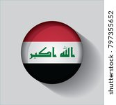 button flag of iraq in a round... | Shutterstock .eps vector #797355652