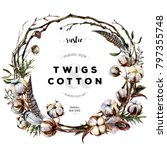 Watercolor Wreath Made Of...