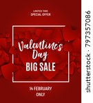 valentine's day love and...   Shutterstock .eps vector #797357086
