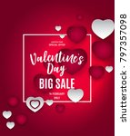 valentine's day love and... | Shutterstock .eps vector #797357098