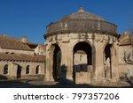 Small photo of VILLENEUVE-LES-AVIGNON / FRANCE - FEBRUARY 2015: Inner yard of La Chartreuse monastery, Villeneuve-les-Avignon, France