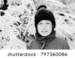 winter portrait of a adorable... | Shutterstock . vector #797360086