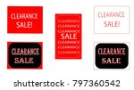 five different red  black and...   Shutterstock .eps vector #797360542