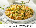 homemade vegetarian fried rice... | Shutterstock . vector #797364286