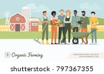 young farmers team working... | Shutterstock .eps vector #797367355
