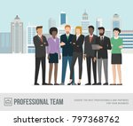 multi ethnic business people... | Shutterstock .eps vector #797368762