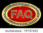 faq button golden with diamonds ...   Shutterstock .eps vector #79737352