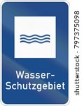 german information road sign  ... | Shutterstock . vector #797375098