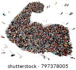large and diverse group of... | Shutterstock . vector #797378005