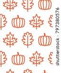 seamless pattern of outline... | Shutterstock .eps vector #797380576