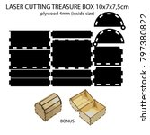 laser cutting 4mm plywood... | Shutterstock .eps vector #797380822
