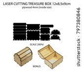 laser cutting 4mm plywood... | Shutterstock .eps vector #797380846