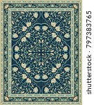 oriental floral ornament.... | Shutterstock .eps vector #797383765