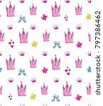 abstract seamless girlish... | Shutterstock .eps vector #797386462