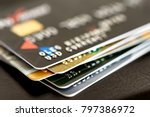 credit card close up. plastic...   Shutterstock . vector #797386972