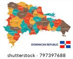 dominican republic map and flag ... | Shutterstock .eps vector #797397688