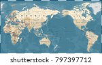 world map vintage old retro  ... | Shutterstock .eps vector #797397712