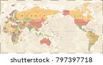 world map vintage old retro  ... | Shutterstock .eps vector #797397718