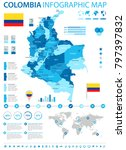 colombia infographic map and... | Shutterstock .eps vector #797397832