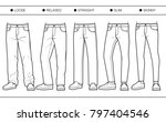 men's denim fits  loose ... | Shutterstock .eps vector #797404546