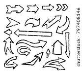 illustration of grunge sketch... | Shutterstock .eps vector #797408146