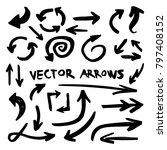 illustration of grunge sketch... | Shutterstock .eps vector #797408152