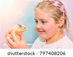 the beautiful little girl...   Shutterstock . vector #797408206
