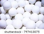 many ping pong balls closeup... | Shutterstock . vector #797413075
