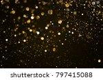 christmas gold sparkle glitter... | Shutterstock . vector #797415088