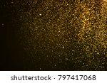 christmas gold sparkle glitter... | Shutterstock . vector #797417068