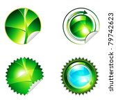 green eco shiny sticker with... | Shutterstock .eps vector #79742623