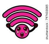 cartoon wifi internet signal... | Shutterstock .eps vector #797433085