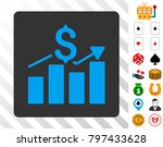 financial chart blue icon...