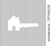 home key sign. vector. white... | Shutterstock .eps vector #797434135