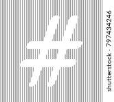 hashtag sign illustration.... | Shutterstock .eps vector #797434246