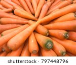 carrot organic. food background | Shutterstock . vector #797448796