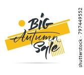 big graphic set of seasons sale ... | Shutterstock .eps vector #797449552