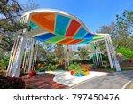 traditional chinese garden... | Shutterstock . vector #797450476
