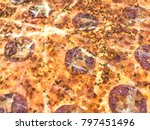 background pizza. sold in your... | Shutterstock . vector #797451496
